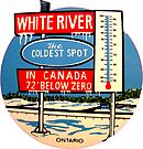 White River Ontario Canada Vintage Travel Decal  by hilda74