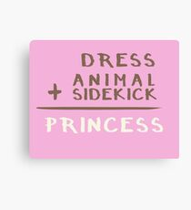 Princess Equation Canvas Print