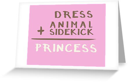 Princess equation greeting cards by jabberdashery redbubble princess equation by jabberdashery m4hsunfo
