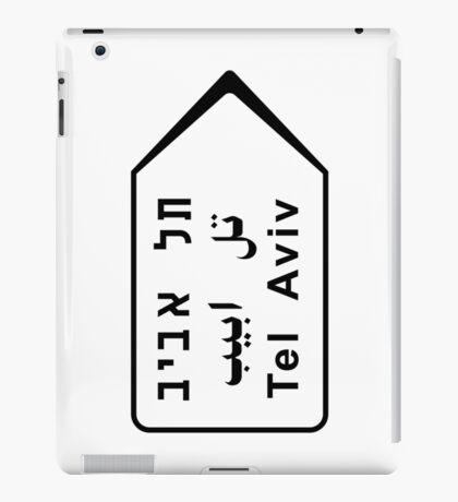 Tel Aviv Road Sign, Israel iPad Case/Skin