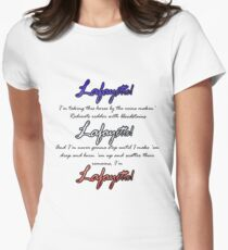 Hamilton: Lafayette! Tailliertes T-Shirt für Frauen