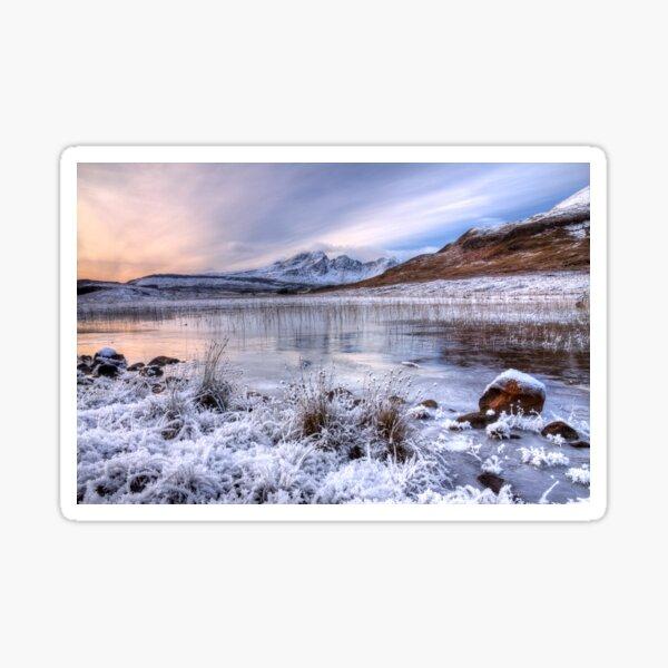 Blaven in Winter Light Isle of Skye Scotland. Sticker