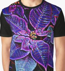 Psychedelic Poinsettia Graphic T-Shirt