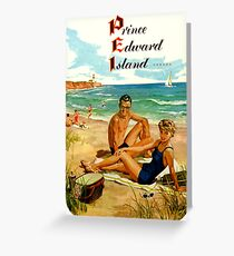 Prince Edward Island PEI Vintage Travel Decal Greeting Card