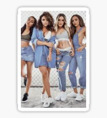 little mix girls - denim  Sticker