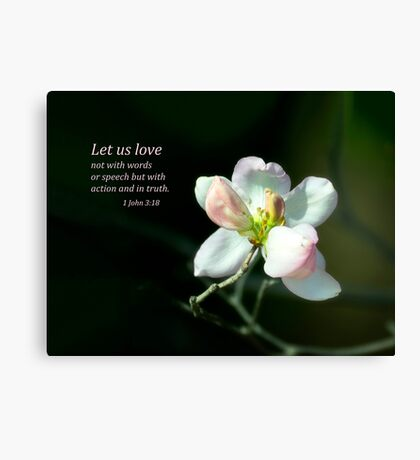 Let Us Love Canvas Print