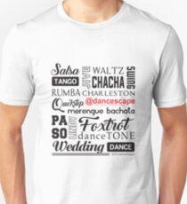 Get Inspired. Get Dancing @danceScape! Unisex T-Shirt
