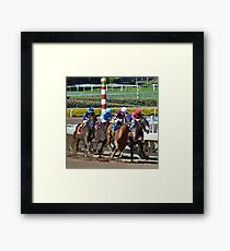 Thoroughbreds- Entering The Stretch Framed Print