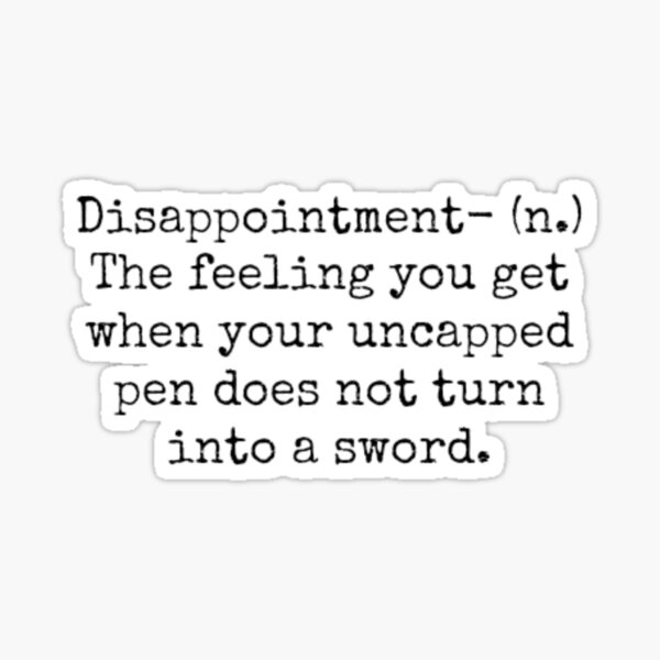 Percy Jackson Disappointment  Sticker
