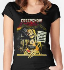 jolting tales of horror Women's Fitted Scoop T-Shirt