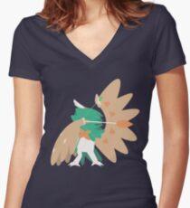 Decidueye Women's Fitted V-Neck T-Shirt