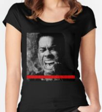 chris rock the tour 2017-total blackout Women's Fitted Scoop T-Shirt
