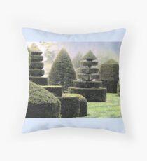 Dawn In A Topiary Garden Throw Pillow
