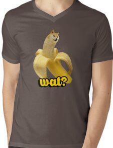 Doge banana dog shibe shiba inus wat? Mens V-Neck T-Shirt