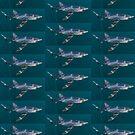 Blue Shark Tile by terry goss