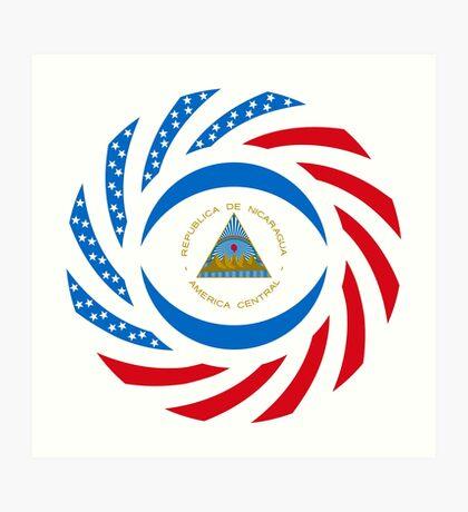 Nicaraguan American Multinational Patriot Flag Series Art Print
