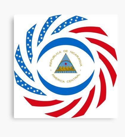 Nicaraguan American Multinational Patriot Flag Series Canvas Print