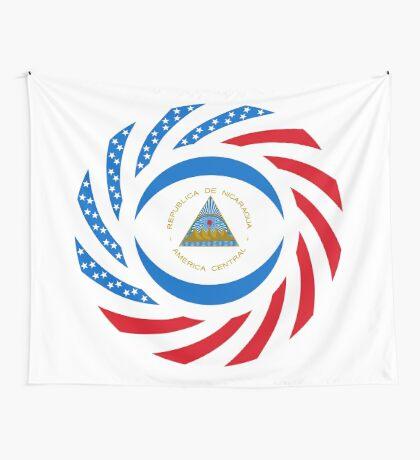 Nicaraguan American Multinational Patriot Flag Series Wall Tapestry