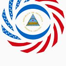Nicaraguan American Multinational Patriot Flag Series by Carbon-Fibre Media