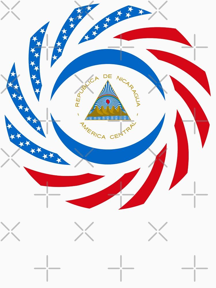 Nicaraguan American Multinational Patriot Flag Series by carbonfibreme