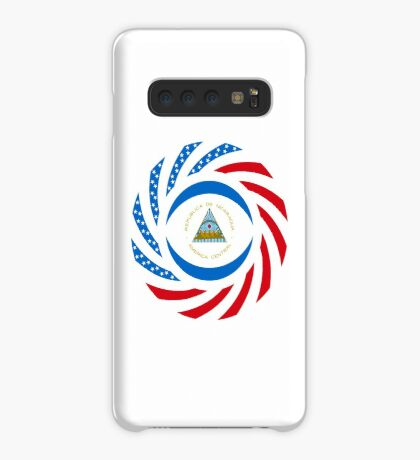 Nicaraguan American Multinational Patriot Flag Series Case/Skin for Samsung Galaxy