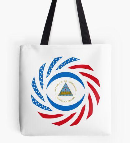 Nicaraguan American Multinational Patriot Flag Series Tote Bag
