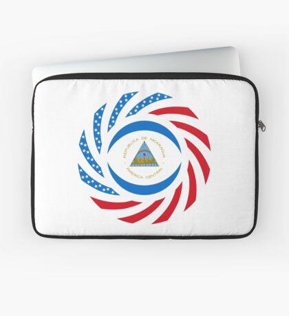 Nicaraguan American Multinational Patriot Flag Series Laptop Sleeve