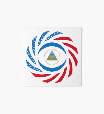 Nicaraguan American Multinational Patriot Flag Series Art Board Print