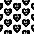 Anti Valentine BITE ME Black Heart by Greenbaby