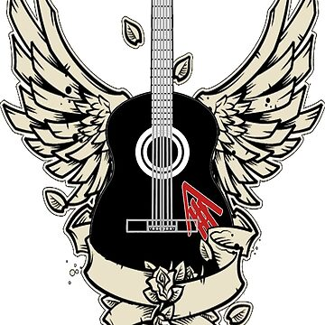 Ambrose, The Immortal Bard Guitar Logo by Gowombat