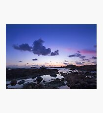 Sunset on guernsey  Photographic Print
