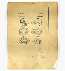 Original Patent For Lego Toy Building Brick Poster