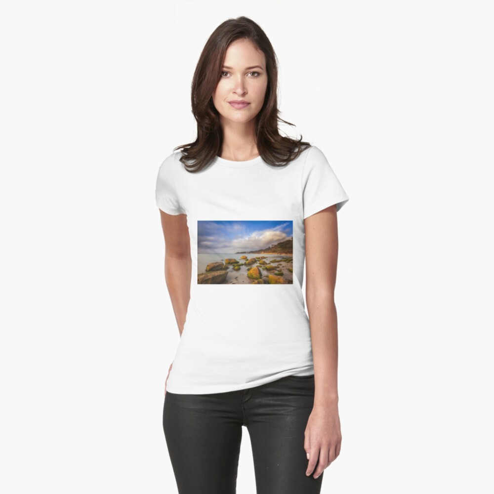 Totland Bay IOW  Fitted T-Shirt