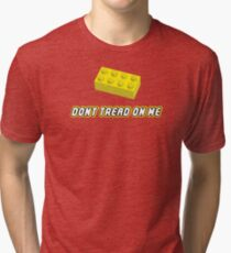 Don't Tread On Me Block Tri-blend T-Shirt
