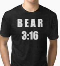 Bear 3:16 Tri-blend T-Shirt