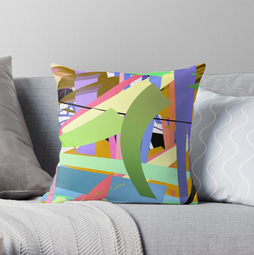 Flat Street Throw Pillow
