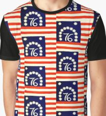 1976 Zweihundertjährige Flagge Grafik T-Shirt