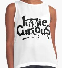 Lizzie Curious Logo (black) Sleeveless Top