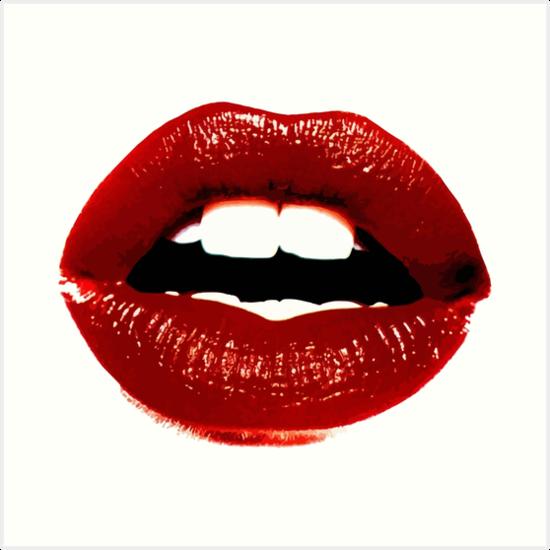 """""""Red Lips"""" Art Print By Aterkaderk"""