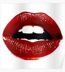 Rote Lippen Poster