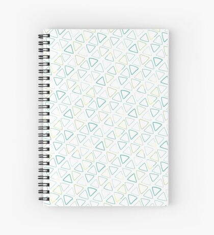 Simple Triangles in Blues and Greens Spiral Notebook