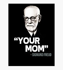 "Lámina fotográfica ""Tu madre"" - Sigmund Freud Cita"
