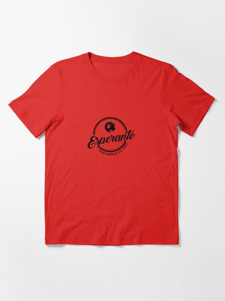 Alternate view of Esperanto - Proksimiĝo de Kulturoj Essential T-Shirt