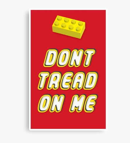 Don't Tread On Me Block Canvas Print