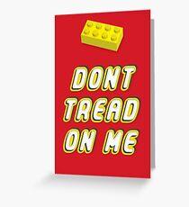 Don't Tread On Me Block Greeting Card