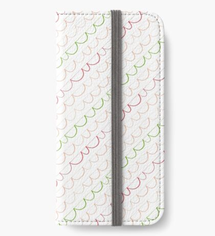 Sweet Scalloped Pattern iPhone Wallet