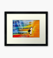 Capoeira love martial arts brazil Framed Print