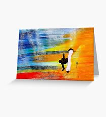 Capoeira love martial arts brazil Greeting Card
