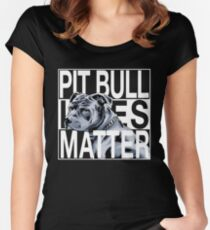 Pit Bull Lives Matter pitbull shirt Women's Fitted Scoop T-Shirt