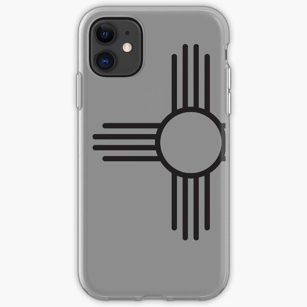 Zia black iPhone Soft Case